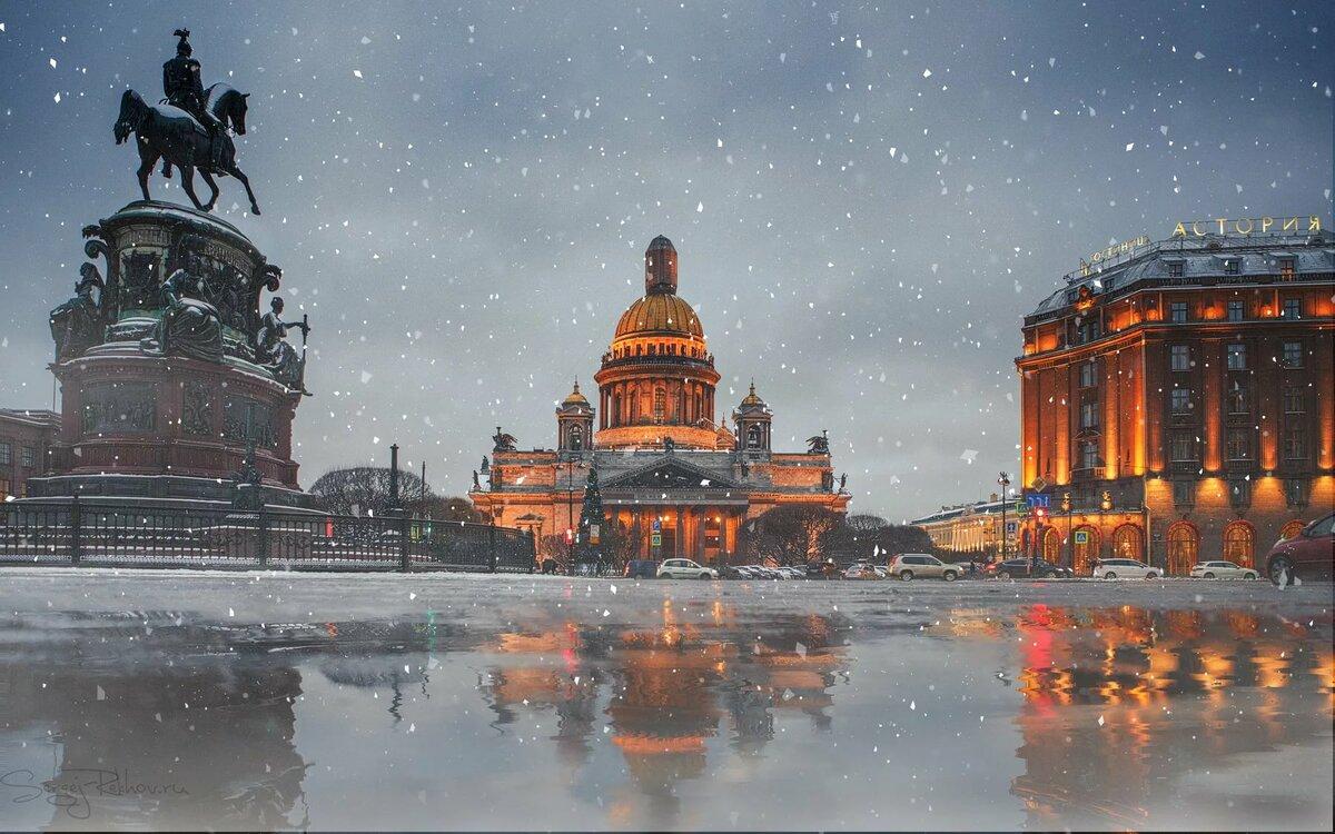 Зимний санкт петербург картинки