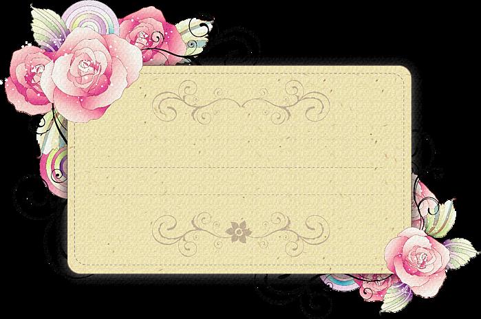 Подпись на открытке с цветами