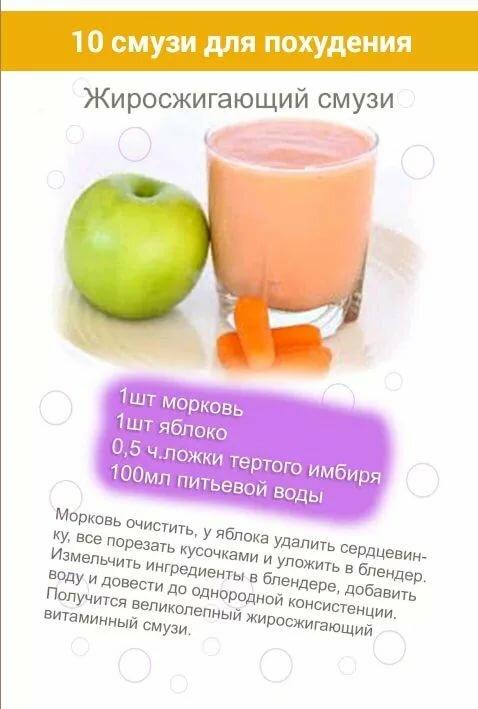 полезные коктейли для похудения в блендере