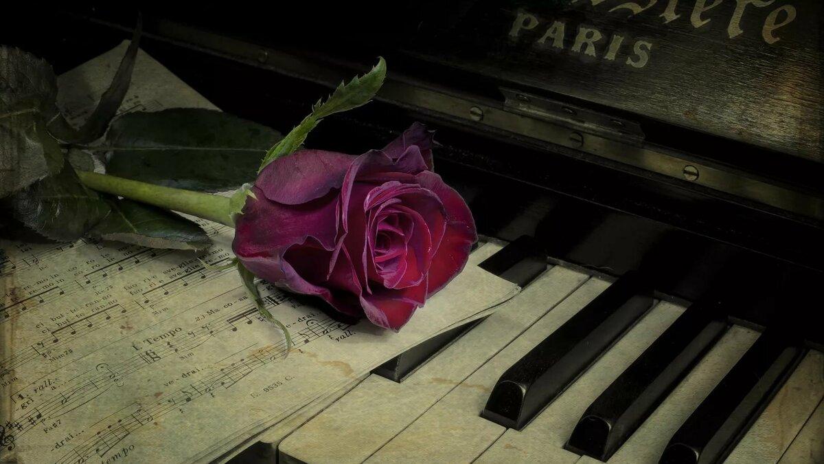 Для сестры, цветы на пианино картинки