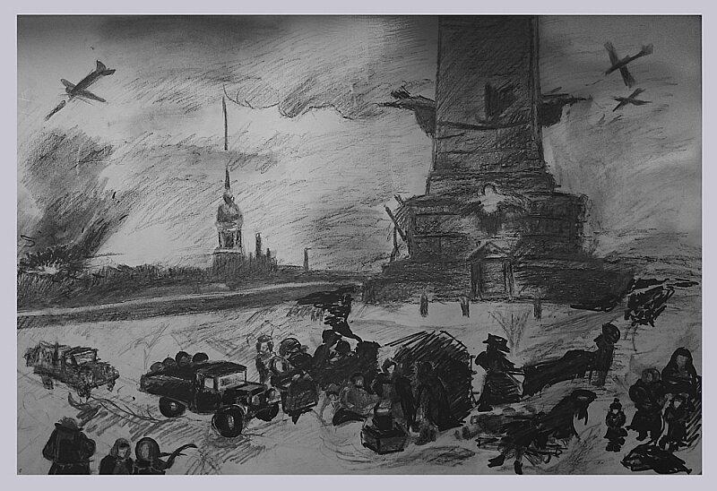 крупнее картинки карандашом ленинград словам максима тоже