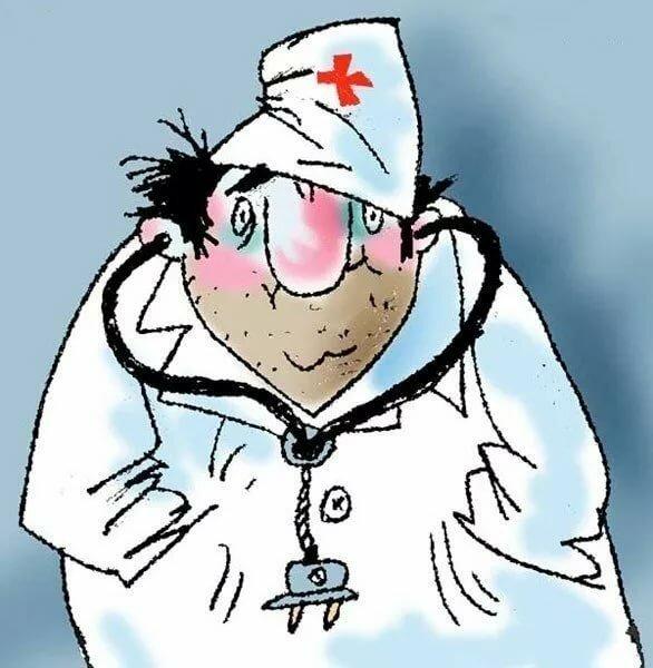 Поздравление юбилей, у врача картинки прикол