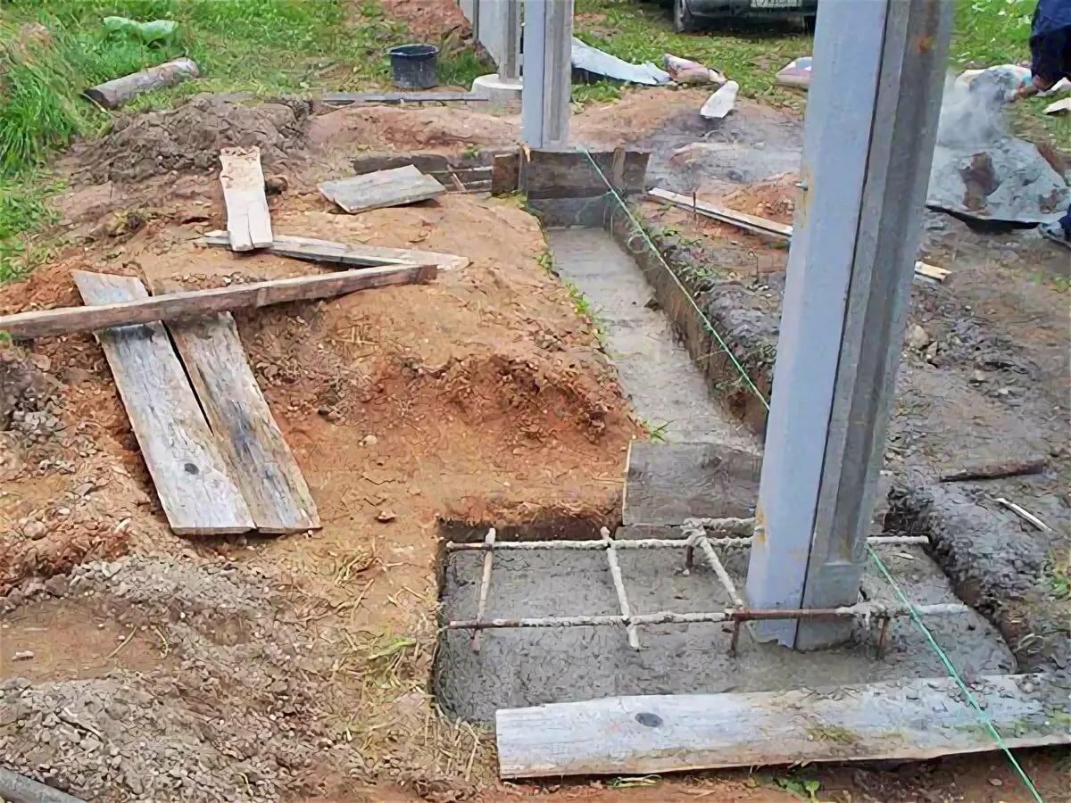 как сделать бетонный столб
