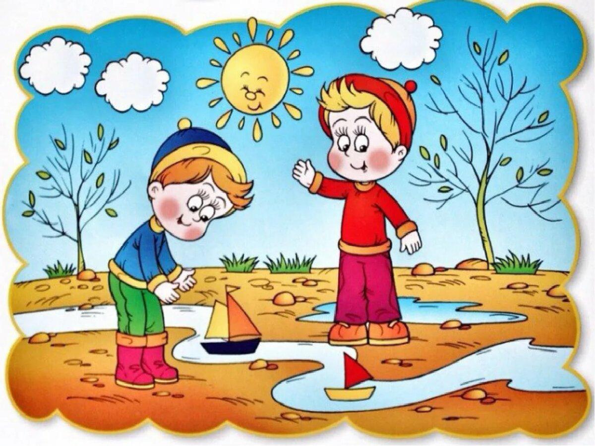 Время года весна картинки для детей дошкольного возраста