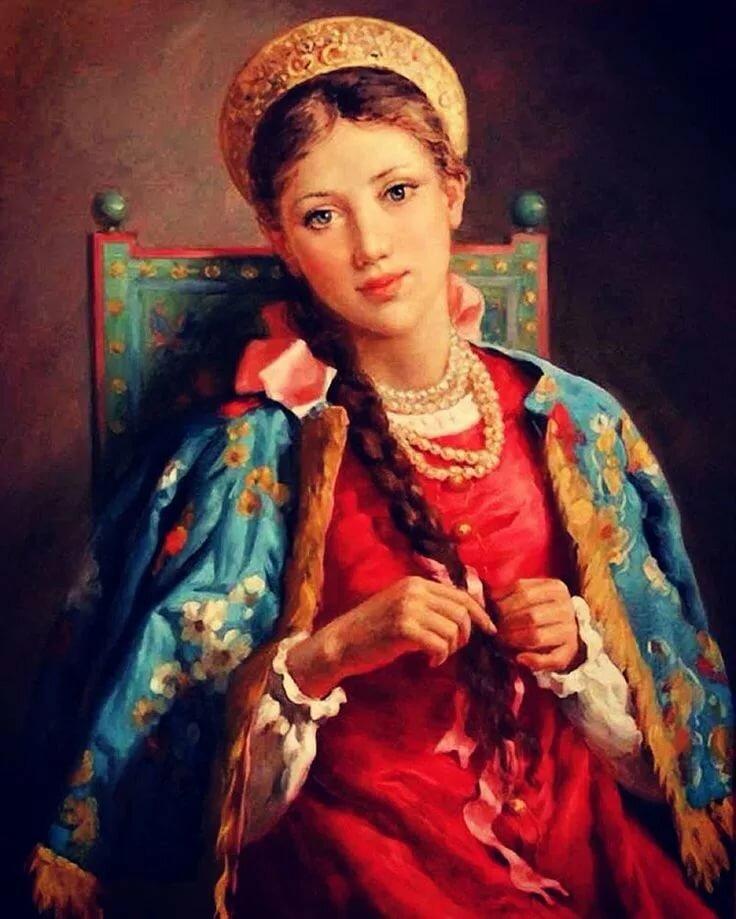 Русские красавицы картинки на руси