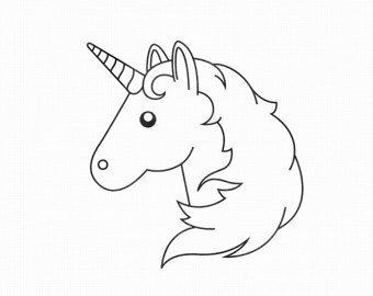 Kleurplaten Emoji Unicorn.Moi Kartinki Yandeks Kollekcii