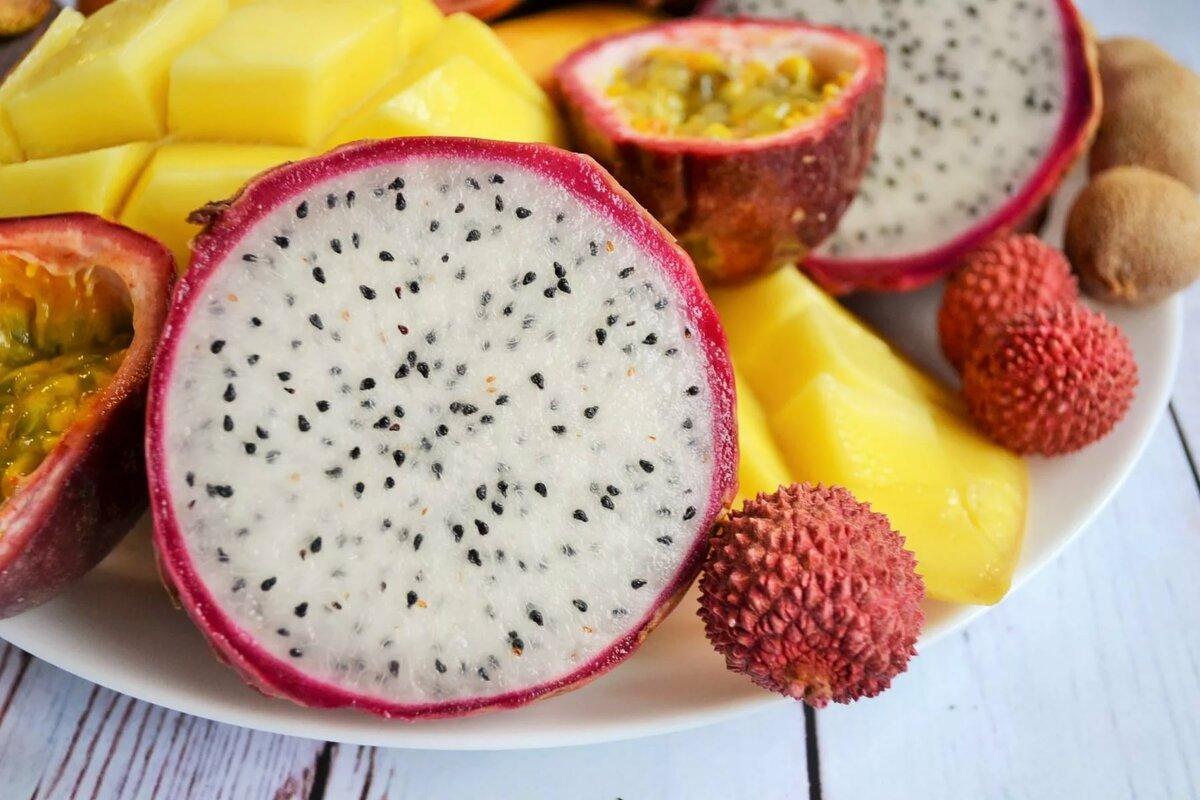 тропические фрукты названия картинки маленький воблер относится