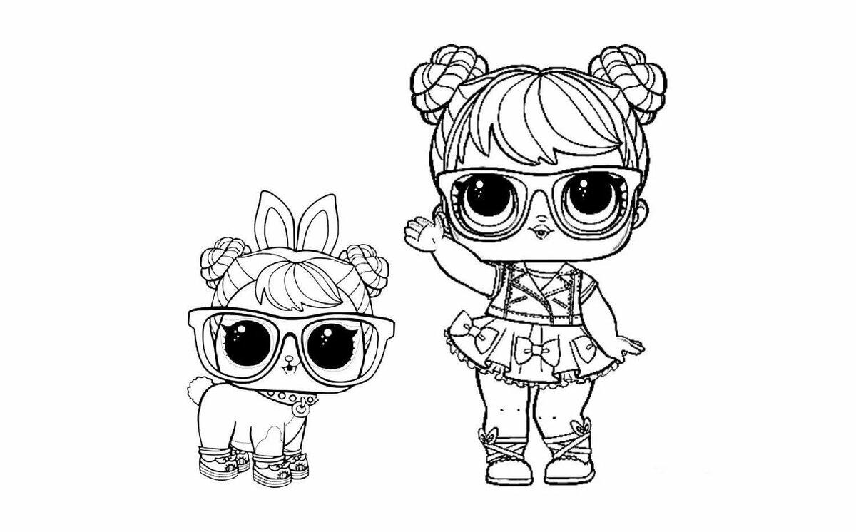 «Раскраски для девочек куклы ЛОЛ распечатать: питомцы ...