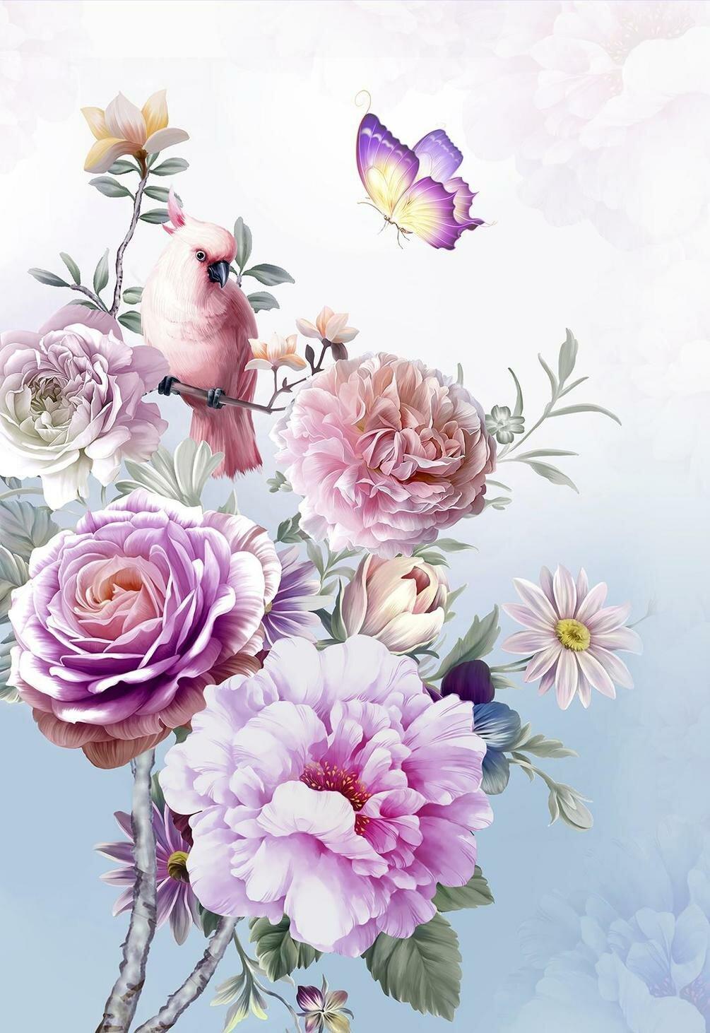 Продажа цветов, заказать цветы на фона телефона