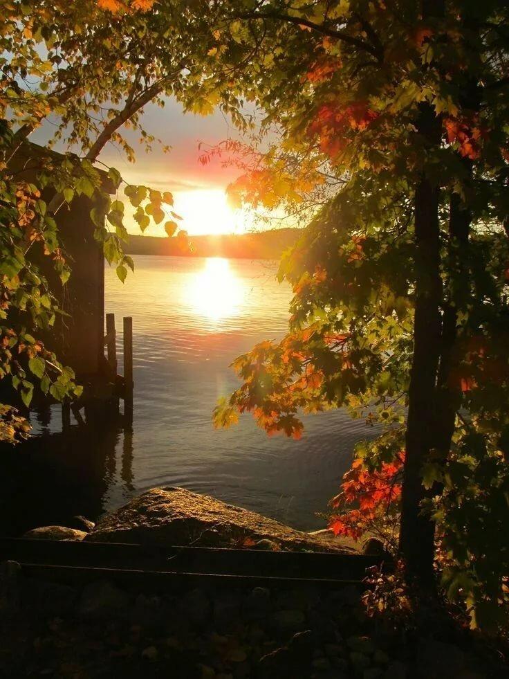 Картинки с добрым утром рассвет осенью с надписями, дети открытки наступающим
