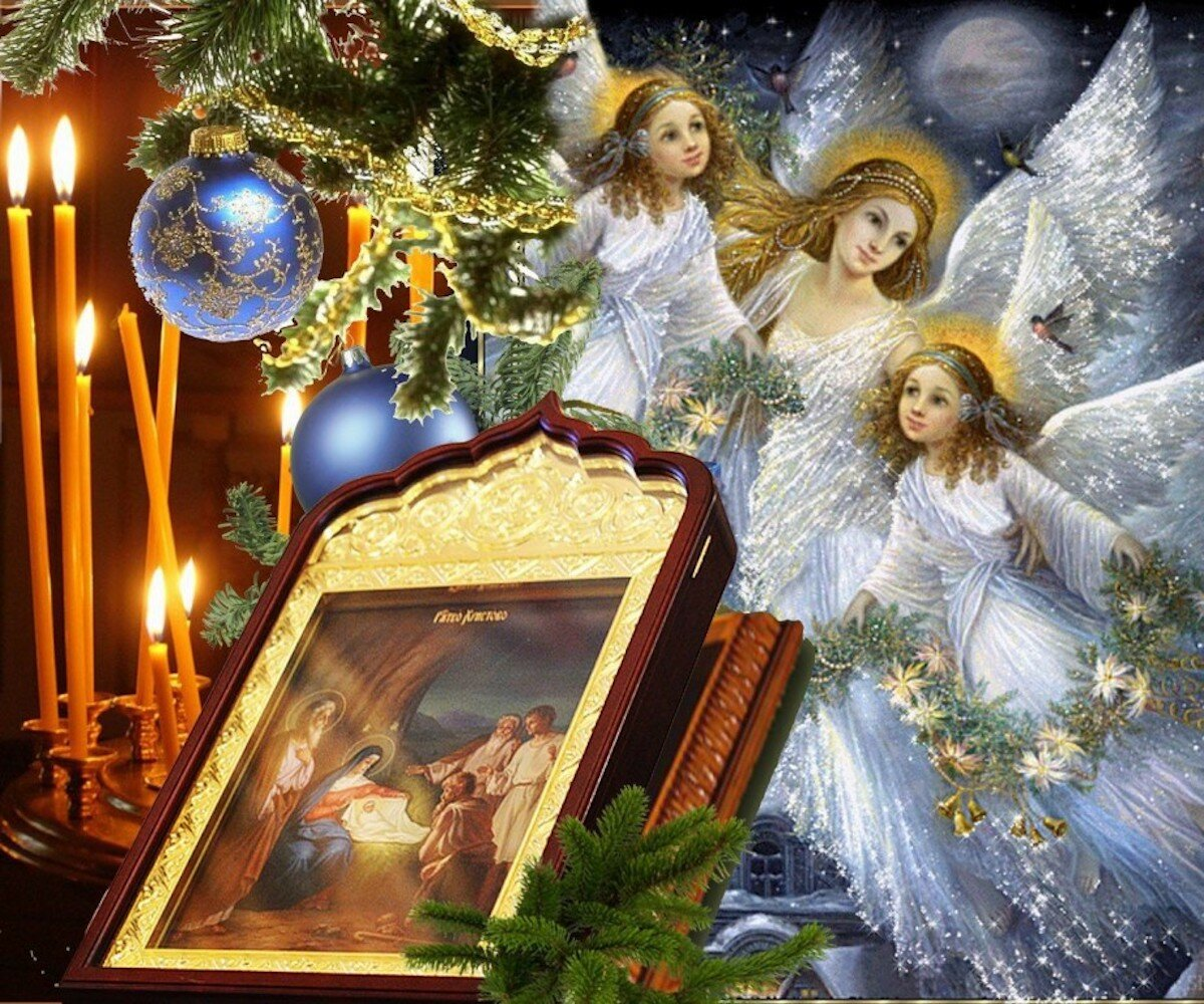Рождество православное открытки фото