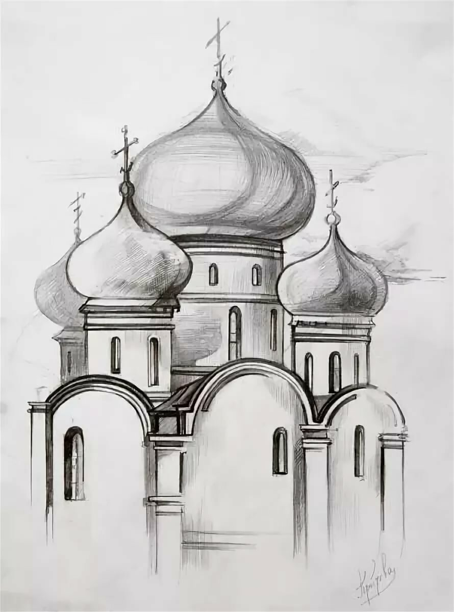 Картинки храмов поэтапно