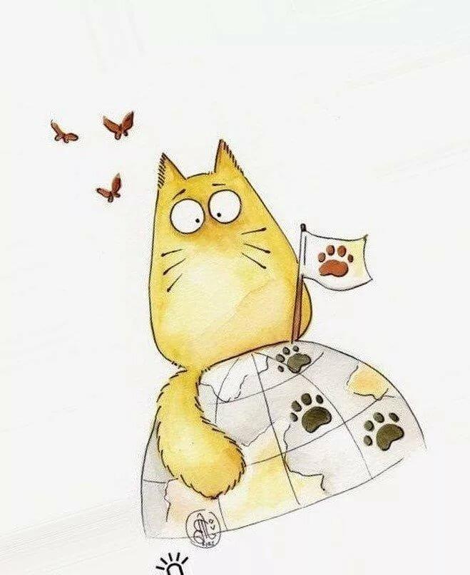 Картинки смешных кошек для срисовки, свеча
