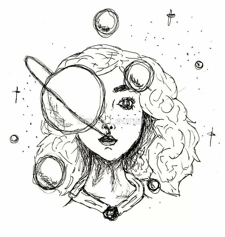 Рисунки в лд для срисовки для девочек черной ручкой