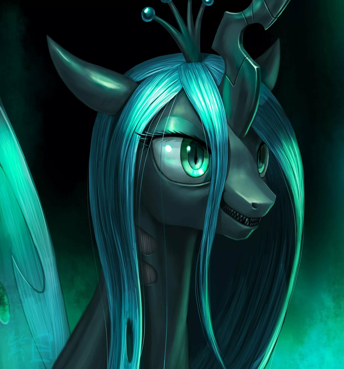 картинки пони королева крисалис как покоряющий