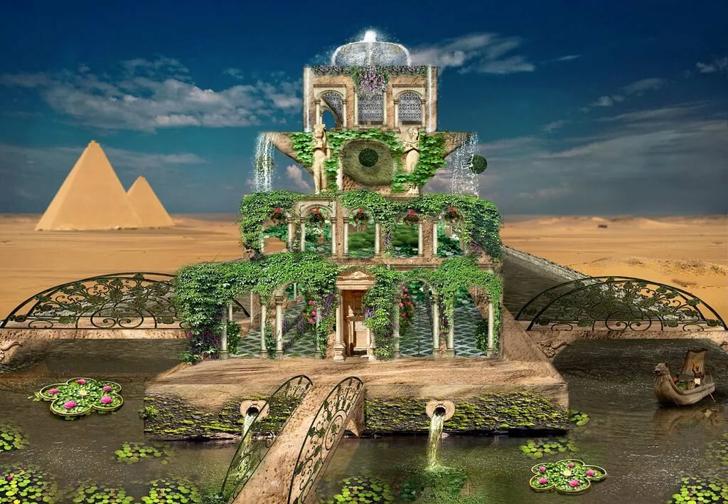 семь чудес света картинки сады семирамиды каждой