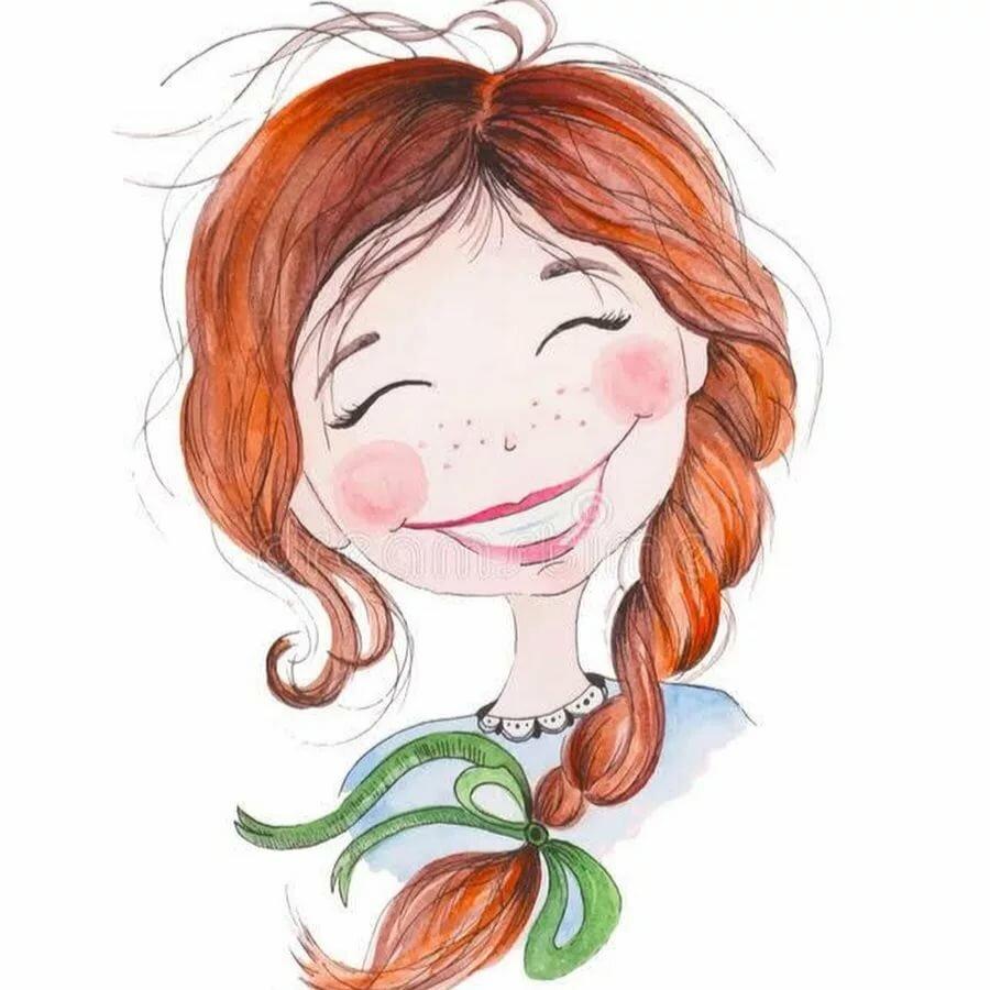 Картинки приколы, веселые девчонки рисунки