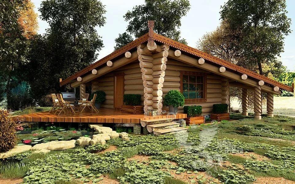 Картинка баня деревянная