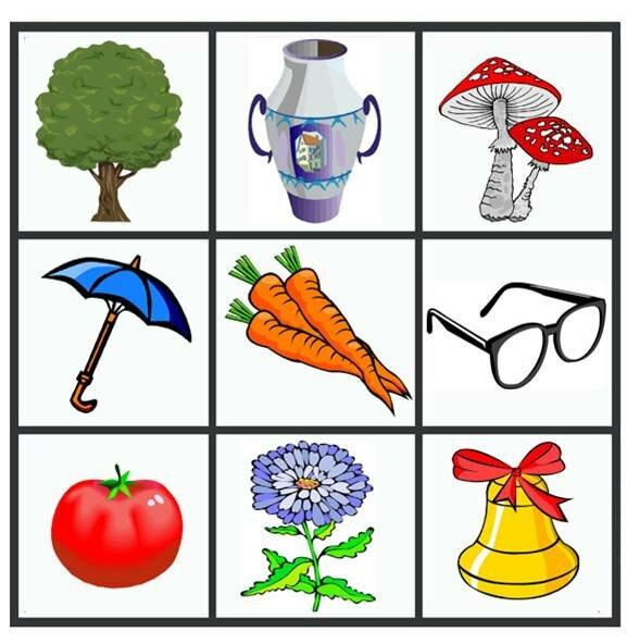 Карточки с картинками для заучивания слов