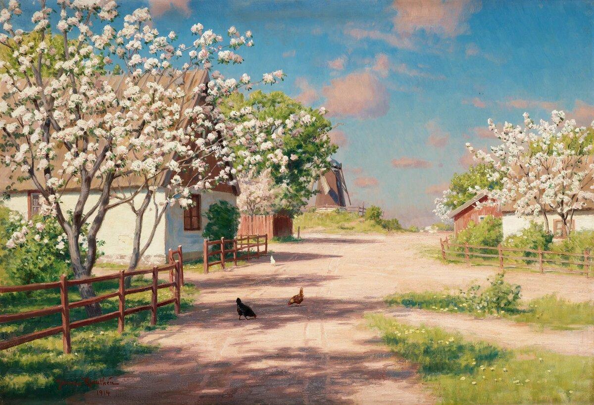 Именем, красивые открытки весенние пейзажи