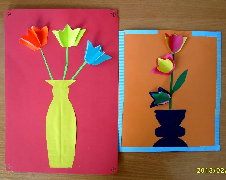 Конспект урока по технологии 1 класс открытка для мамы