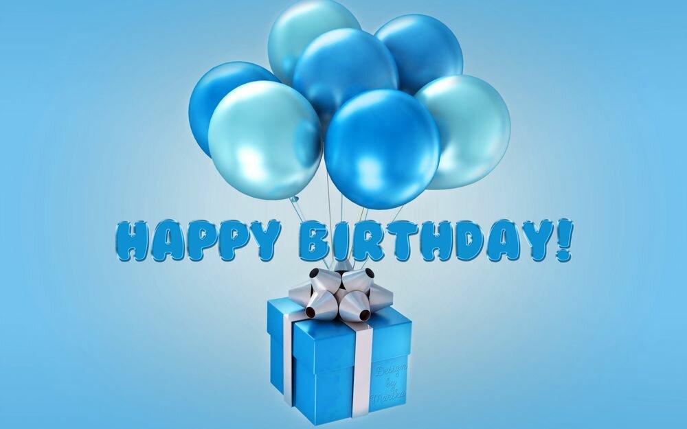 Смешной, голубые открытки с днем рождения