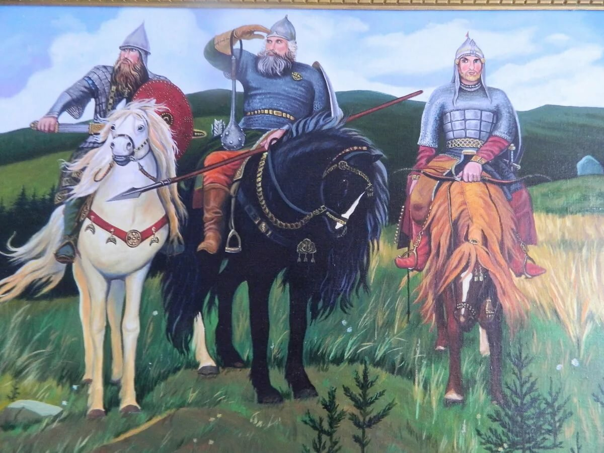 Картинка три богатыря васнецов