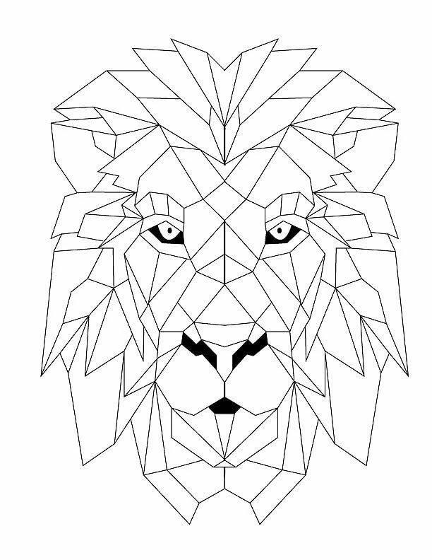 Лучшая открытка, геометрические картинки животных