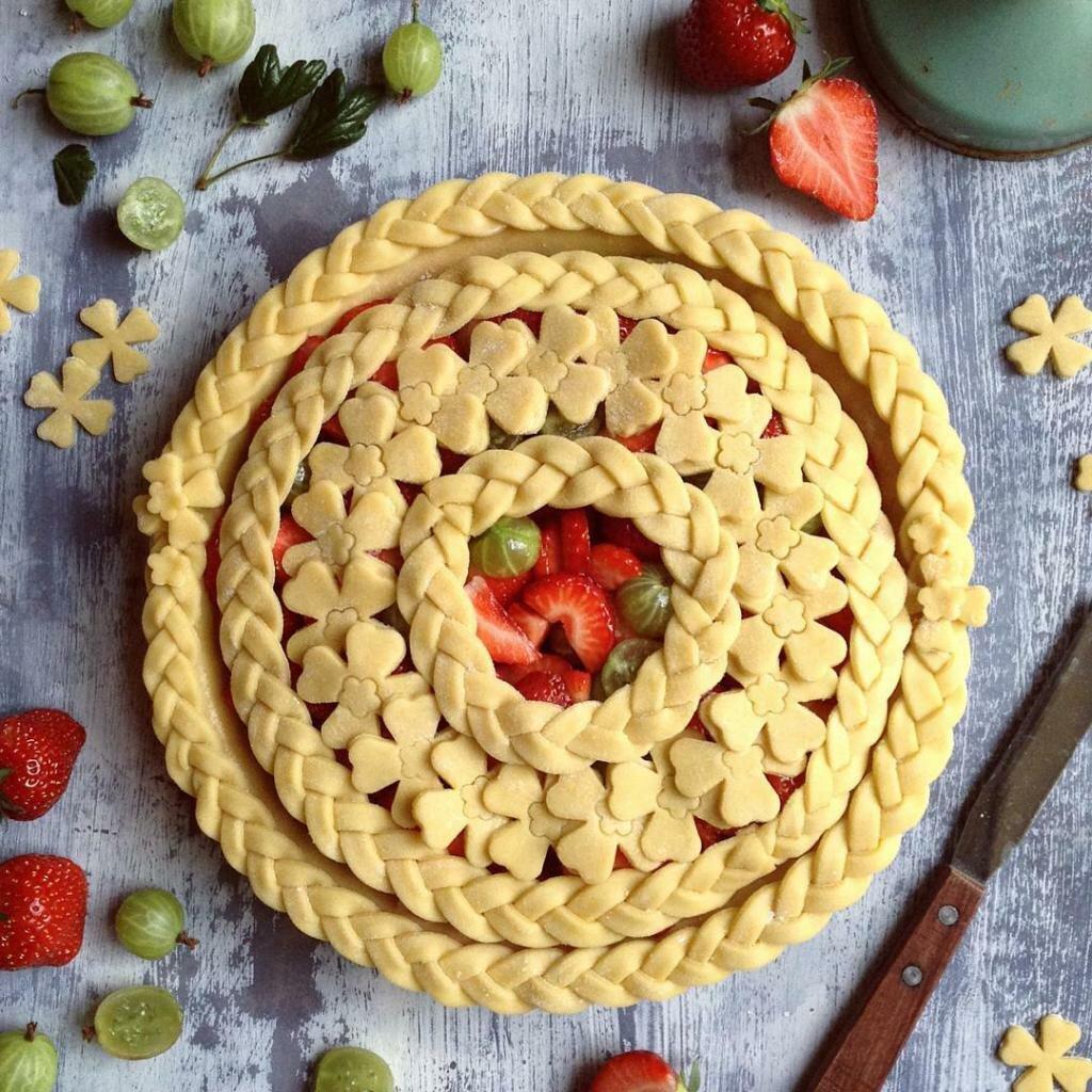 юля одном картинки как украсить пирог изображением вида открытого