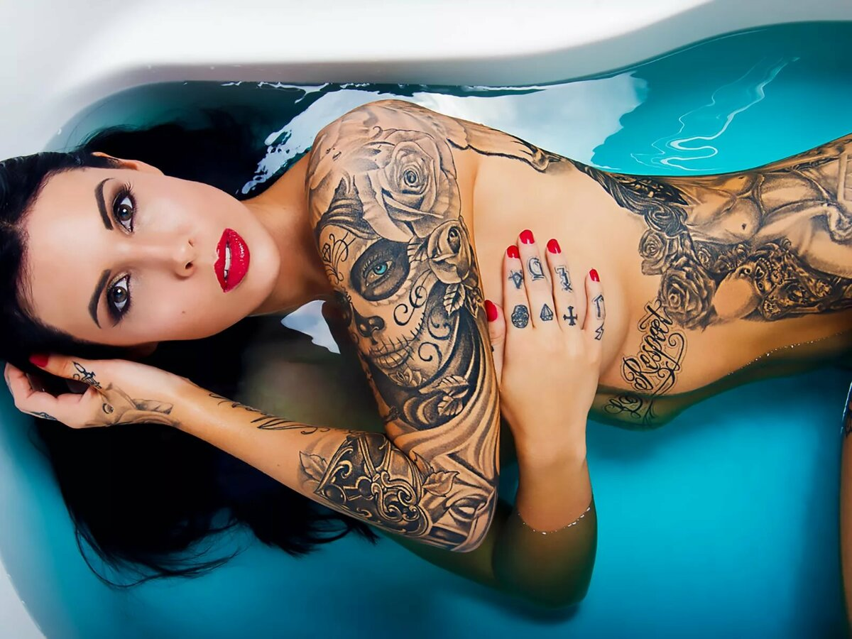 картинки тату на девушках не на голых - 1