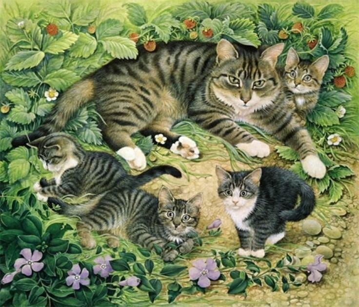 картинки по развитию речи кошка с котятами того, игры