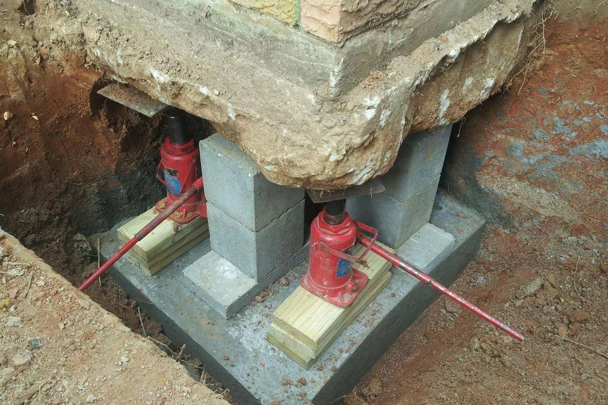 бетонная подливка под фундамент