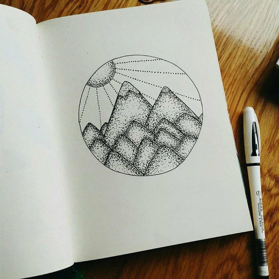 Рисовать несложные рисунки в блокноте