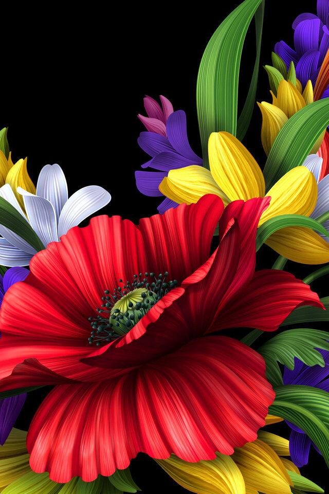 Картинки цветов на телефон андроид, днем