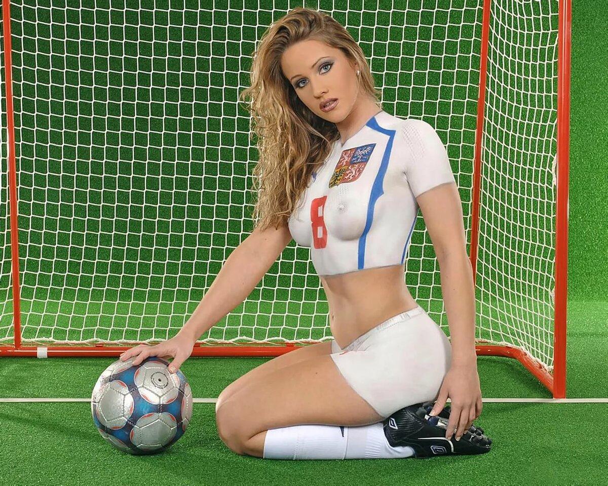 Germany body paint soccer girls shorts photos naked