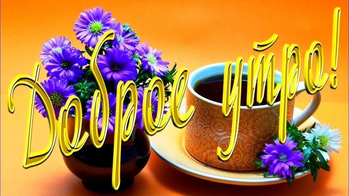 другие открытки с добрым утром и пожеланием хорошего дня цветы начала надо выбрать