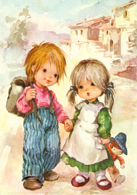 Детские открытки дети