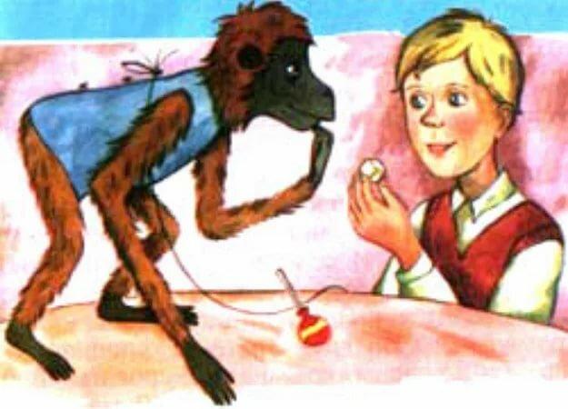 Житков рассказ про обезьянку картинки