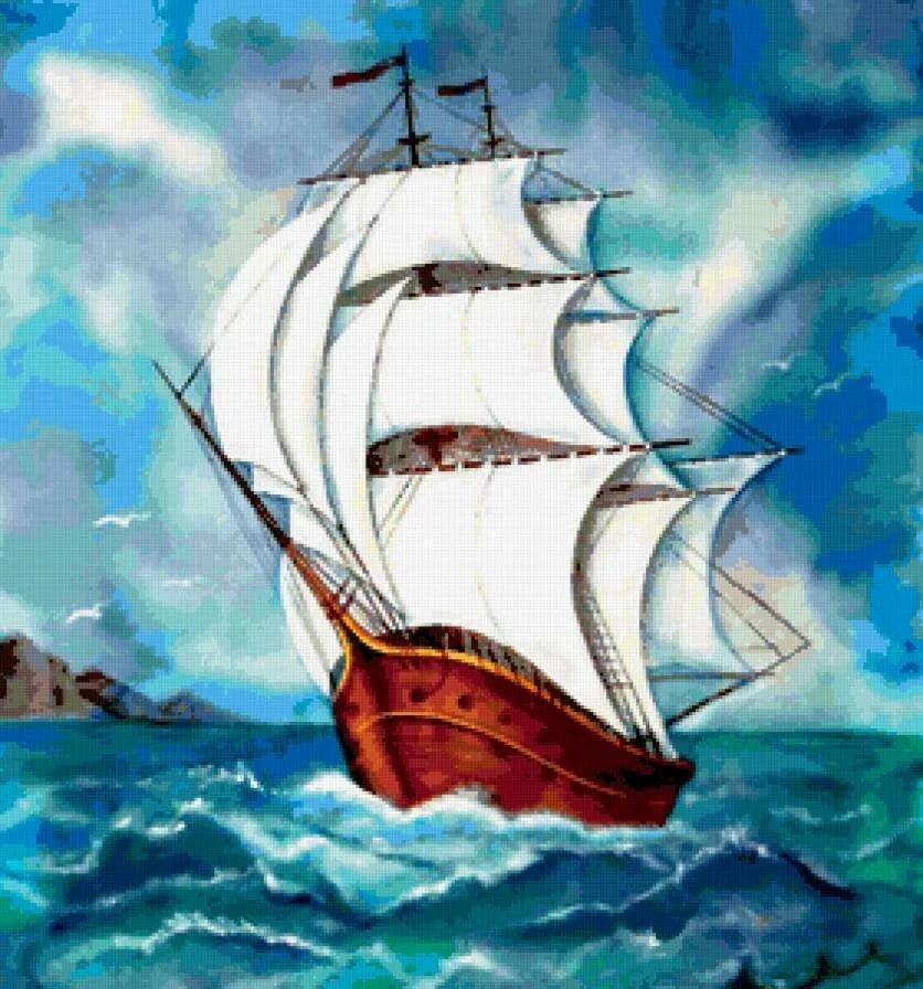 Корабль с парусом рисунок народ любил