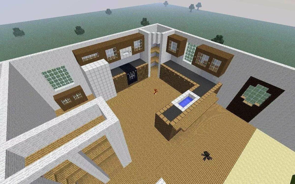 Постройки домов поэтапно в майнкрафт в картинках