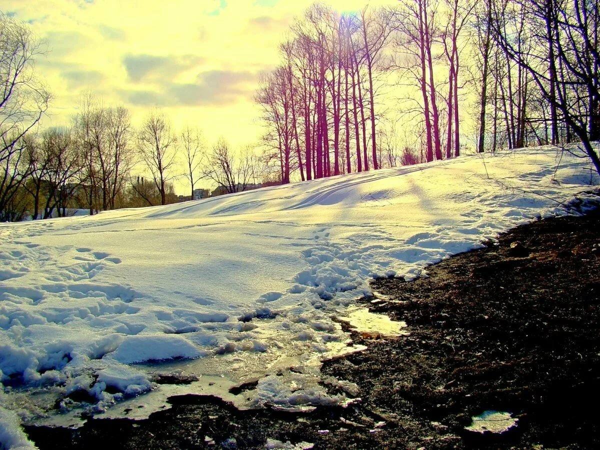 весенний снег картинки кованые