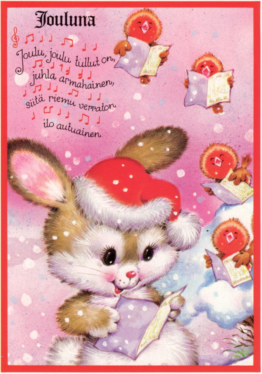 Новогодние открытки зайцы