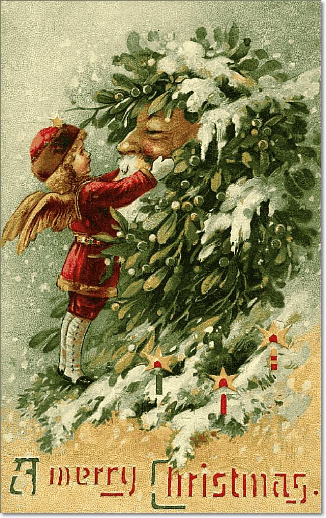 Рождественскую открытка ретро, днем рождения
