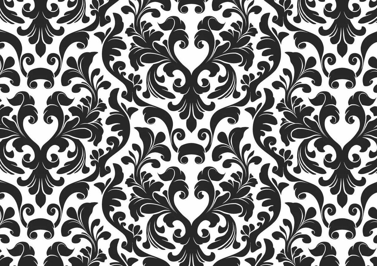 Красивые черные картинки узоры для