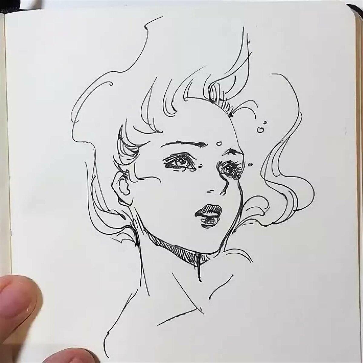 Прикольные рисунки черной ручкой история человечков