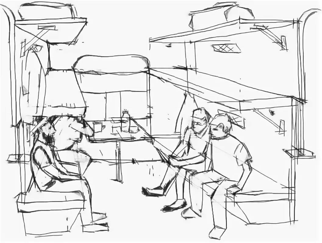 картинки чтобы рисовать в поезде