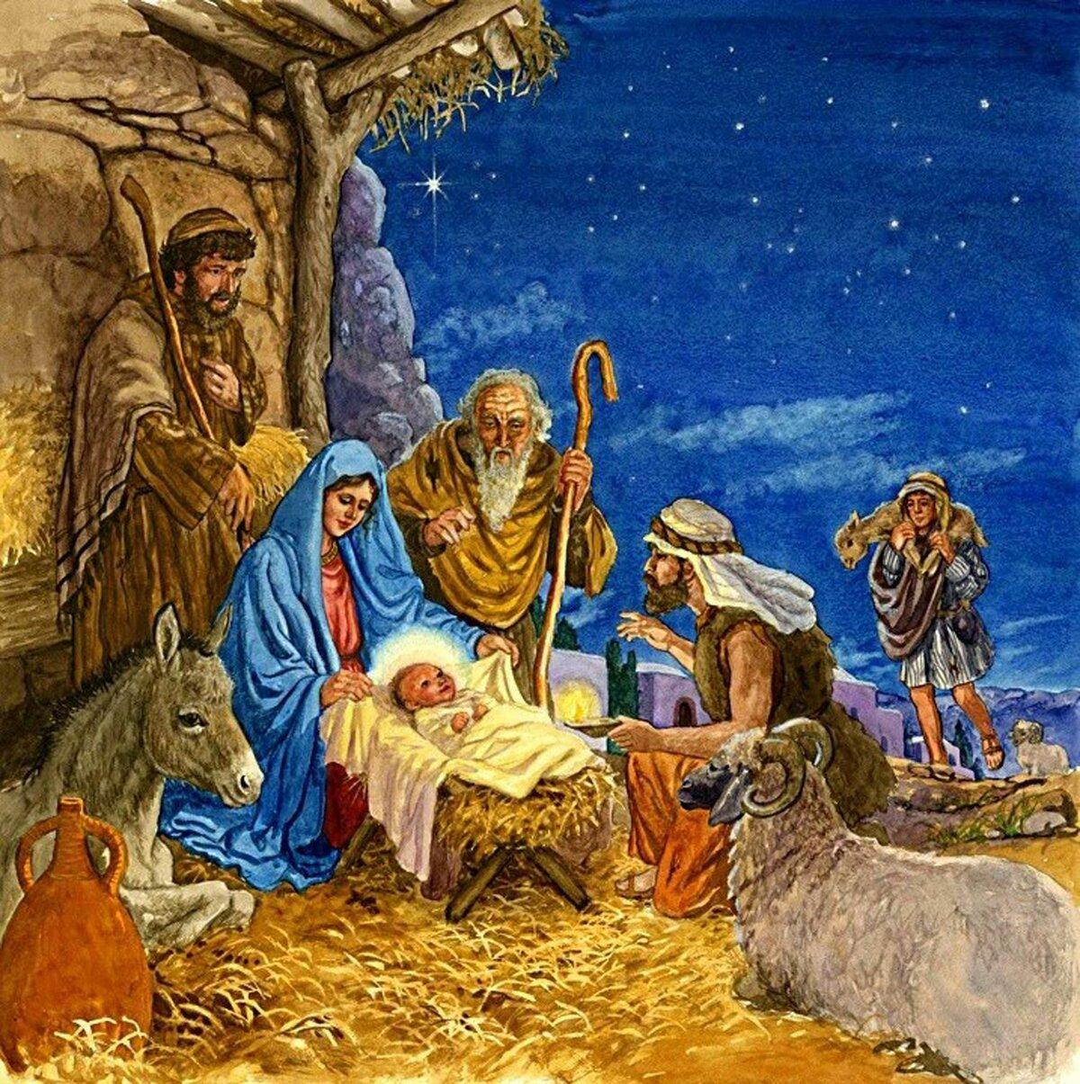 Открытки днем, открытки с рождением иисуса