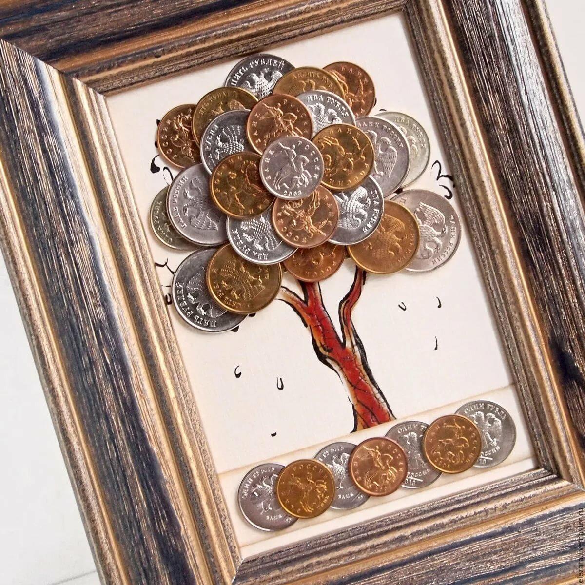Поделки из монет картинки