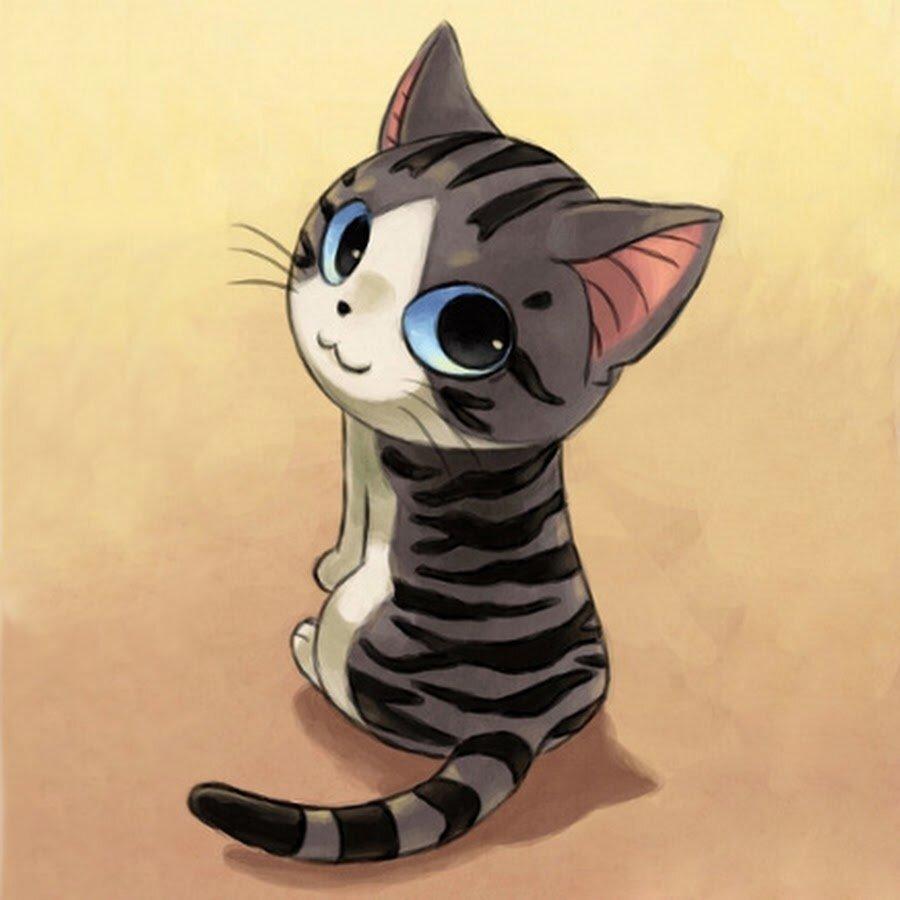 Картинки котят милых мультяшных