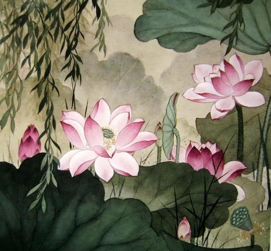 картинки китайские лотосы поблагодарить, что остаетесь